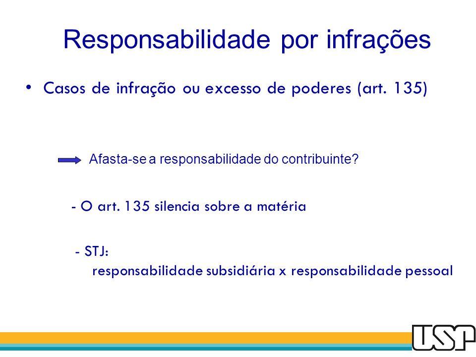 Responsabilidade por infrações