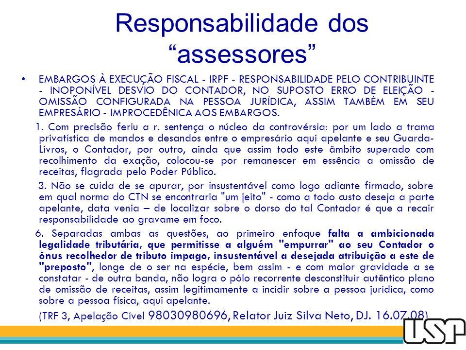 Responsabilidade dos assessores