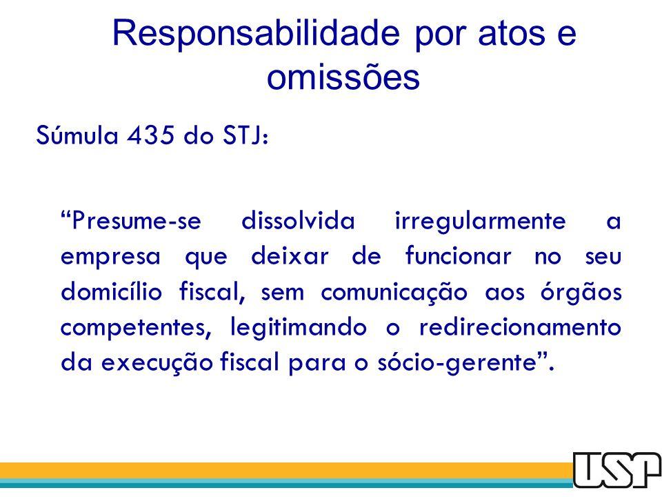 Responsabilidade por atos e omissões