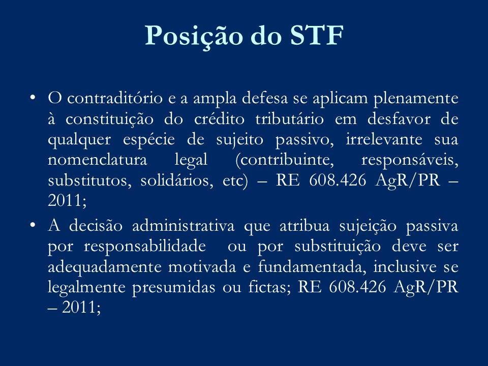 Posição do STF