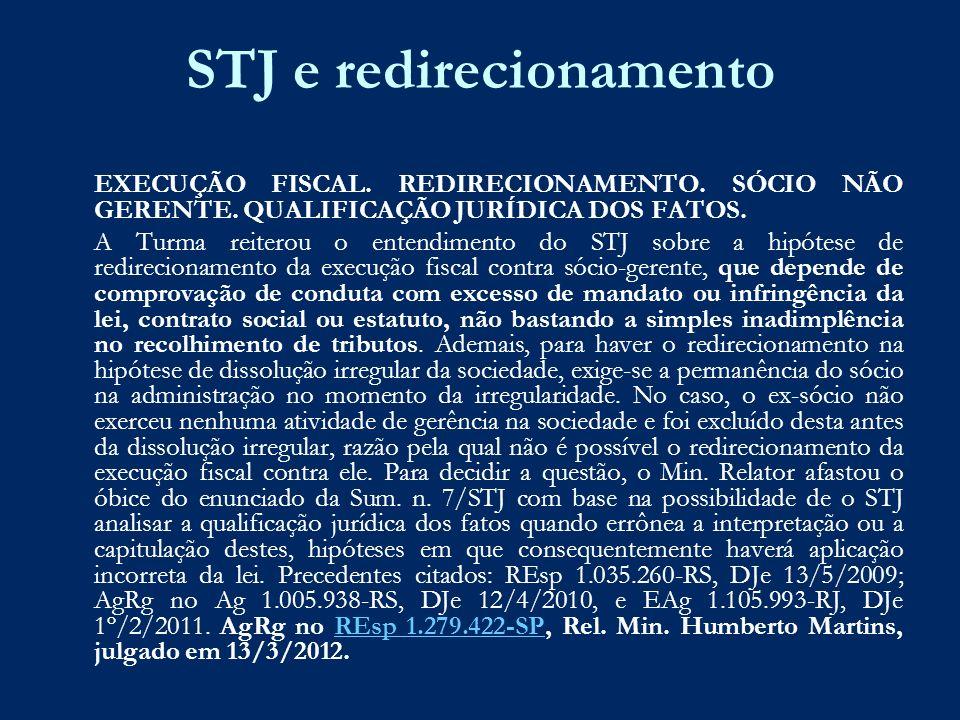 STJ e redirecionamento