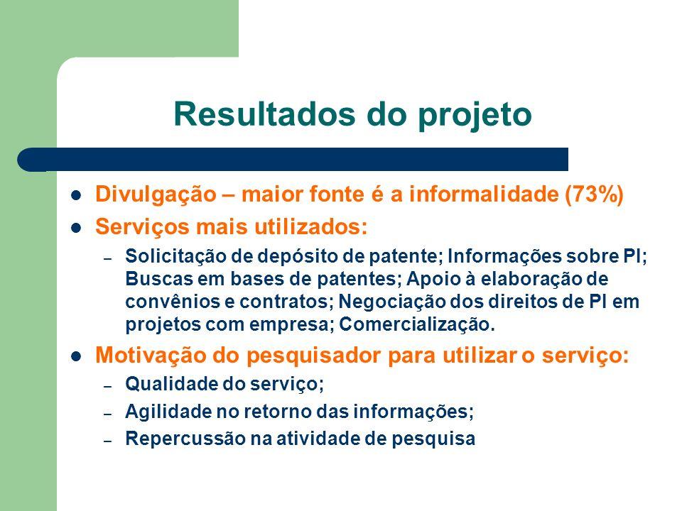 Resultados do projeto Divulgação – maior fonte é a informalidade (73%)
