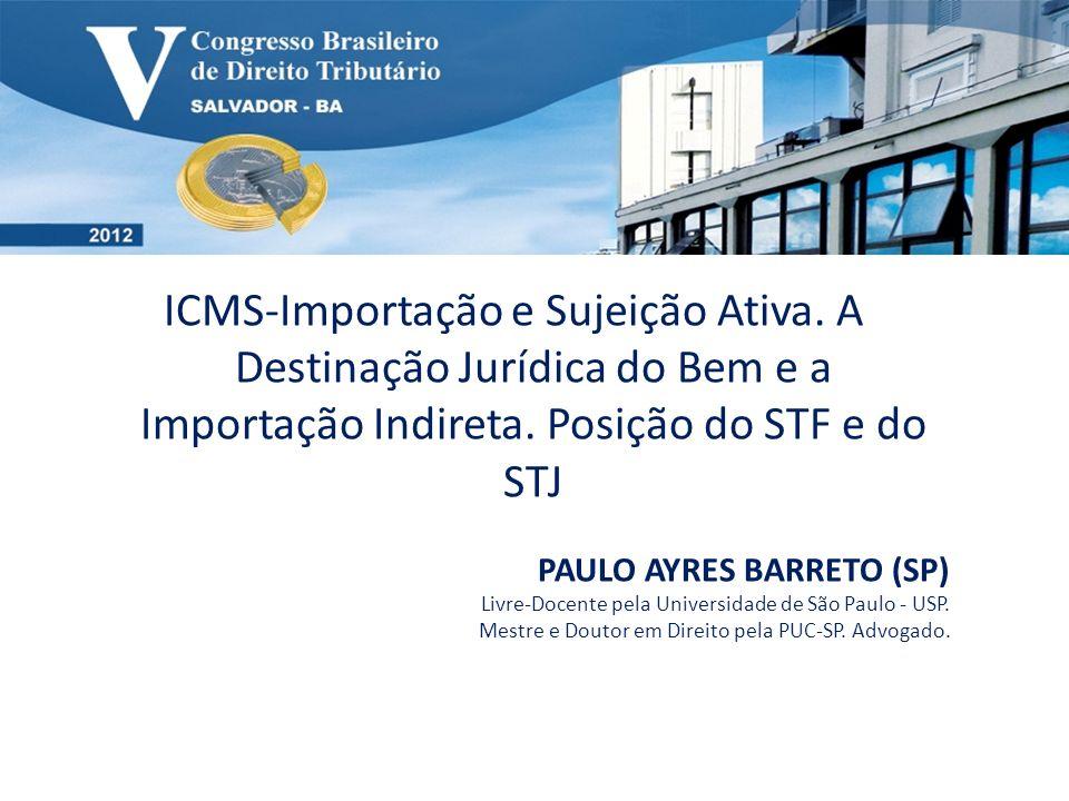 ICMS-Importação e Sujeição Ativa