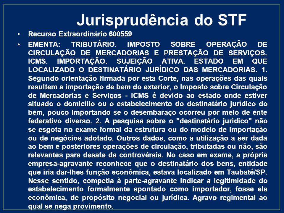 Jurisprudência do STF Recurso Extraordinário 600559