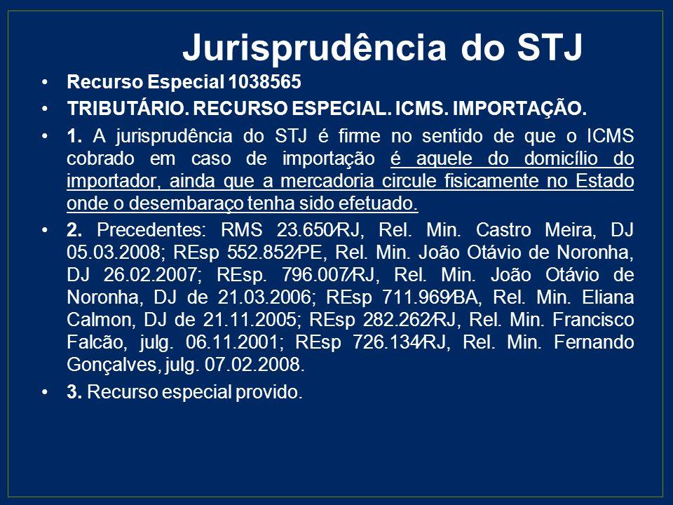 Jurisprudência do STJ Recurso Especial 1038565