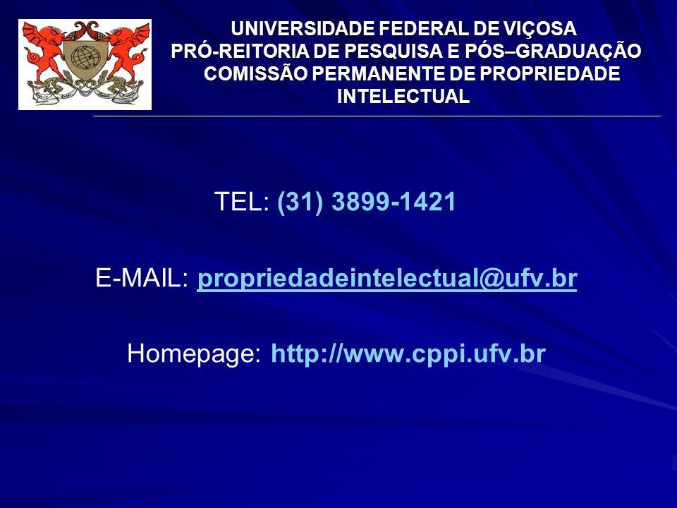 E-MAIL: propriedadeintelectual@ufv.br Homepage: http://www.cppi.ufv.br