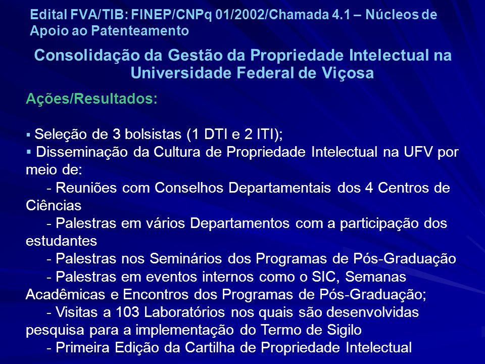 Edital FVA/TIB: FINEP/CNPq 01/2002/Chamada 4