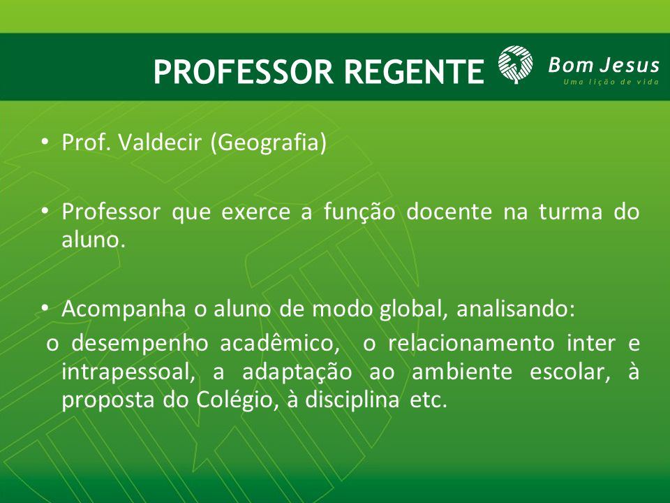 PROFESSOR REGENTE Prof. Valdecir (Geografia)
