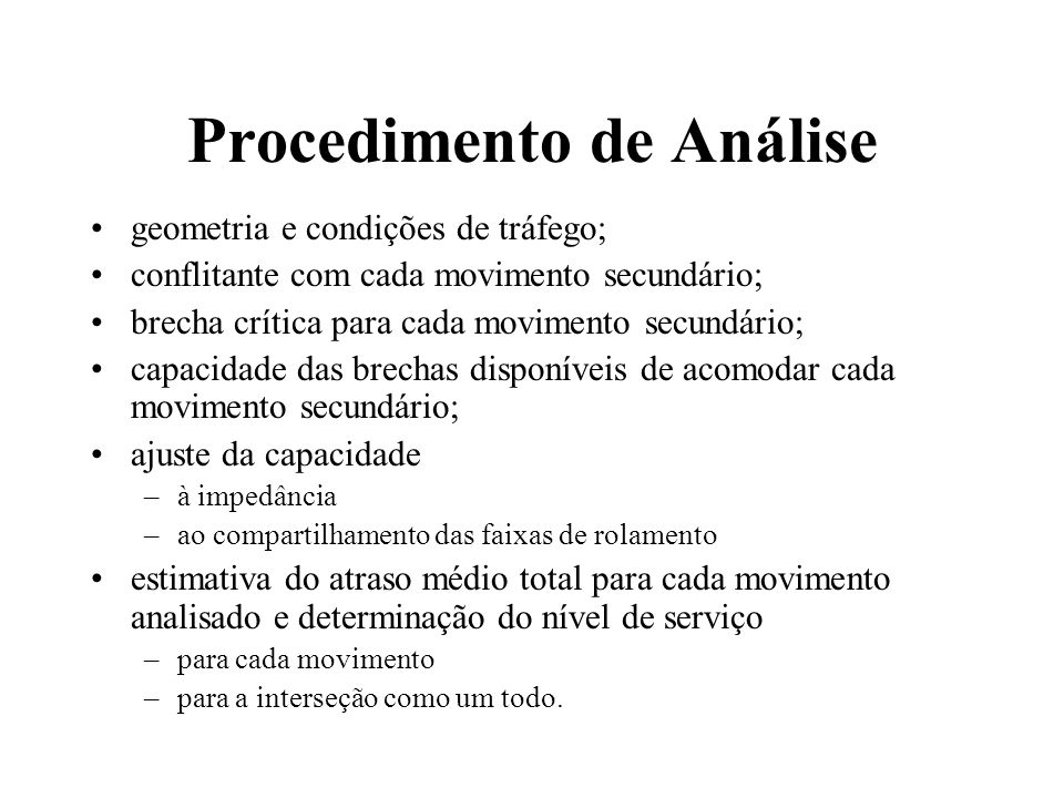 Procedimento de Análise