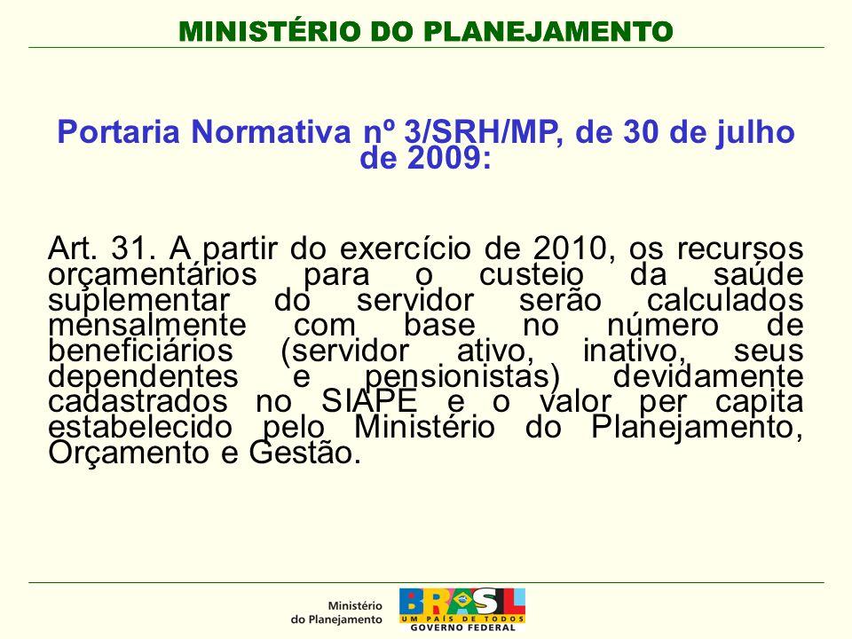 Portaria Normativa nº 3/SRH/MP, de 30 de julho de 2009: