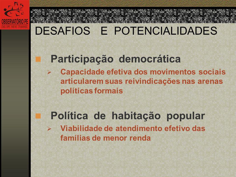 DESAFIOS E POTENCIALIDADES