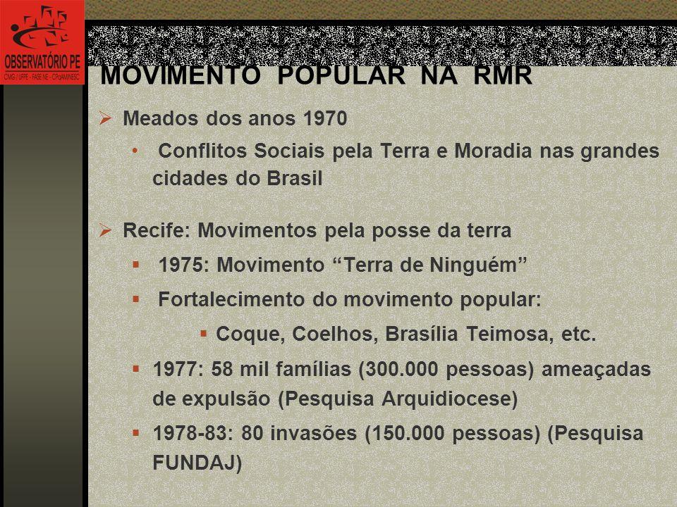 MOVIMENTO POPULAR NA RMR