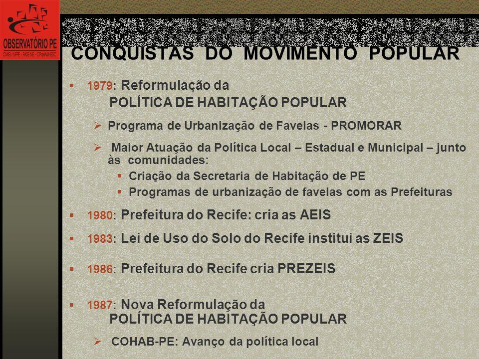 CONQUISTAS DO MOVIMENTO POPULAR