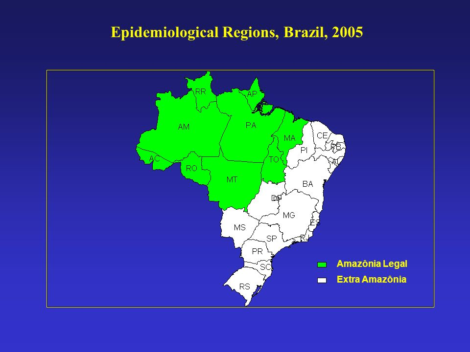 Epidemiological Regions, Brazil, 2005
