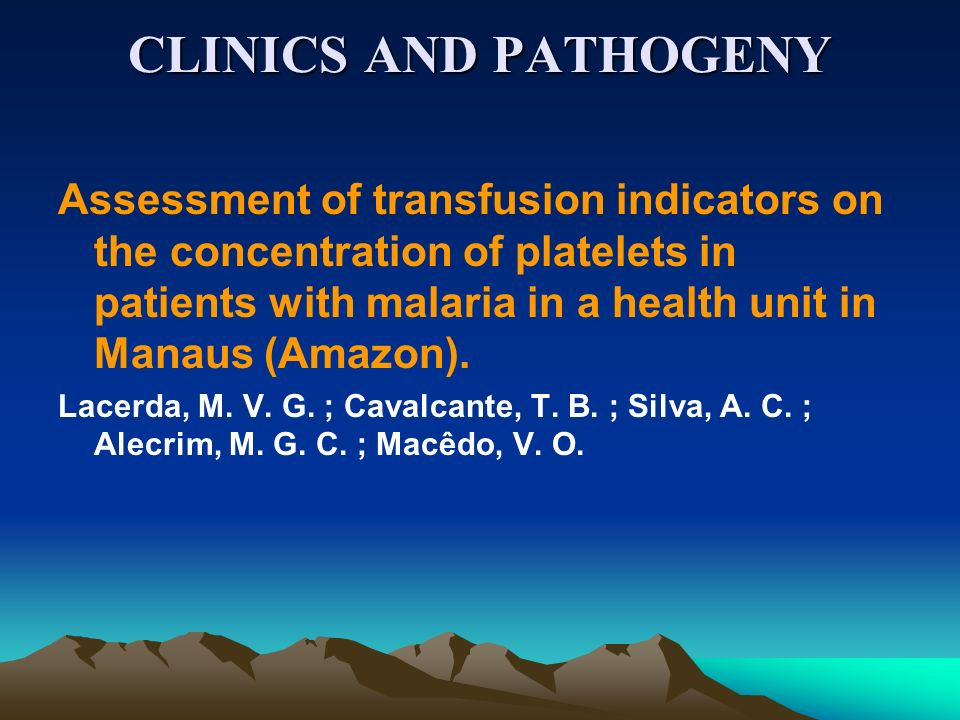 CLINICS AND PATHOGENY