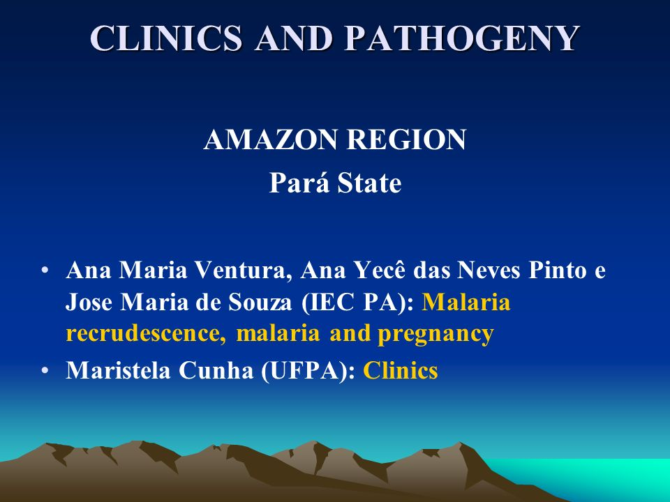 CLINICS AND PATHOGENY AMAZON REGION Pará State