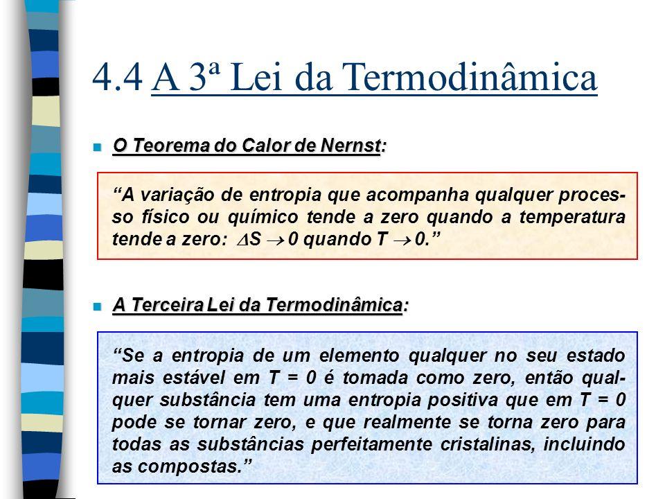 4.4 A 3ª Lei da Termodinâmica