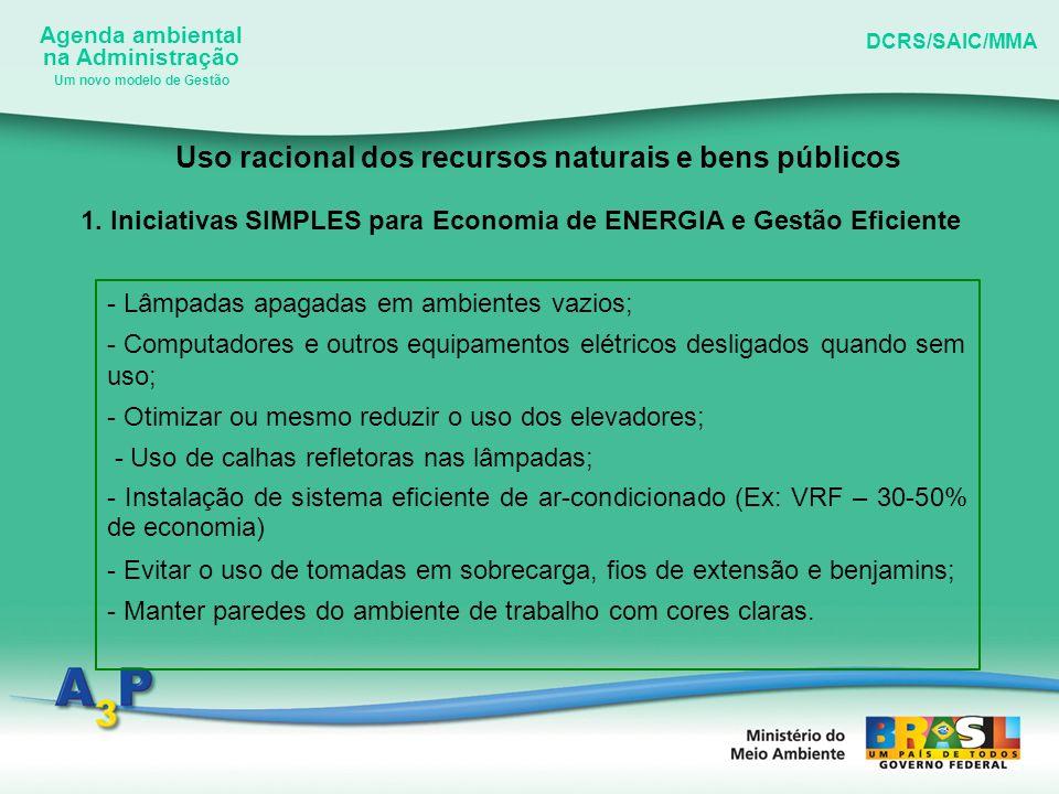 Uso racional dos recursos naturais e bens públicos