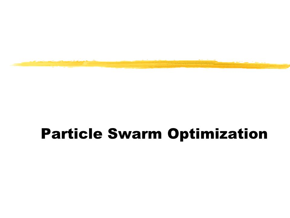 Particle Swarm Optimization