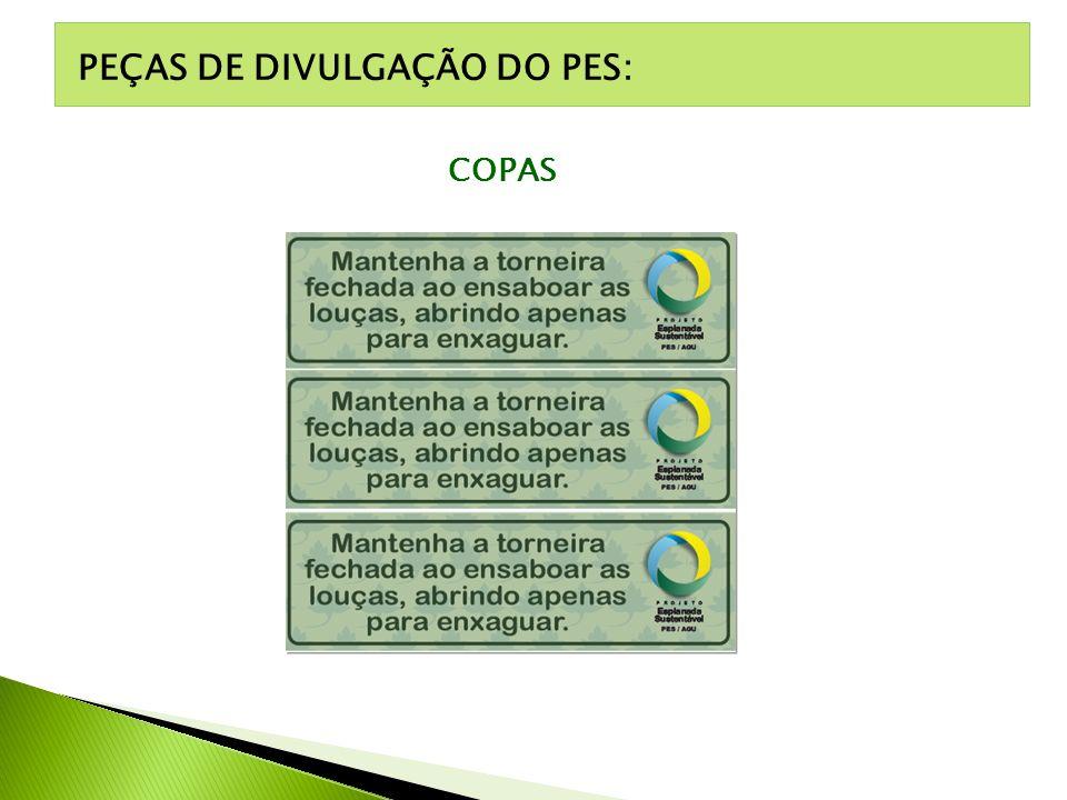 PEÇAS DE DIVULGAÇÃO DO PES: