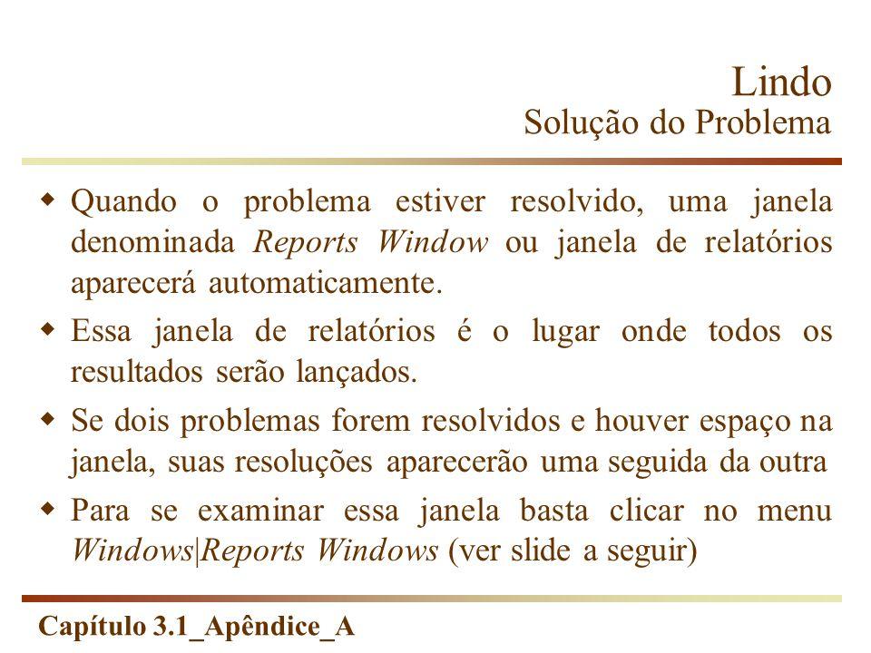 Lindo Solução do Problema