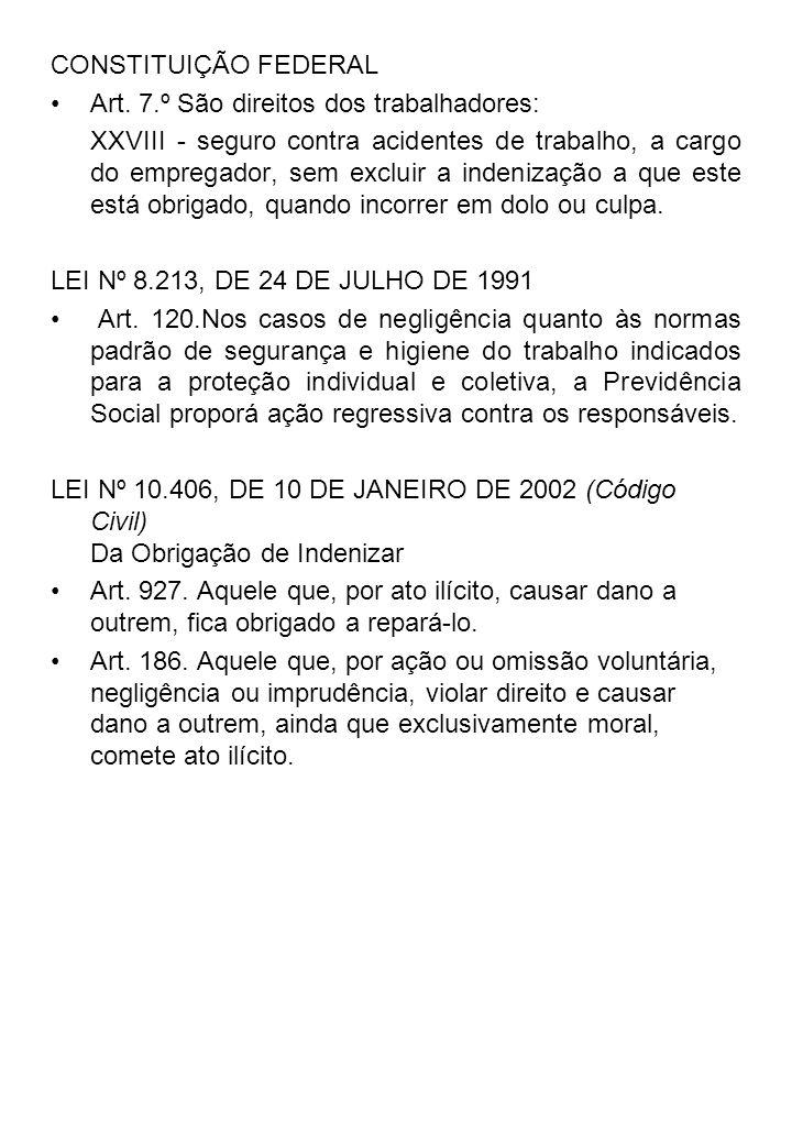 CONSTITUIÇÃO FEDERALArt. 7.º São direitos dos trabalhadores: