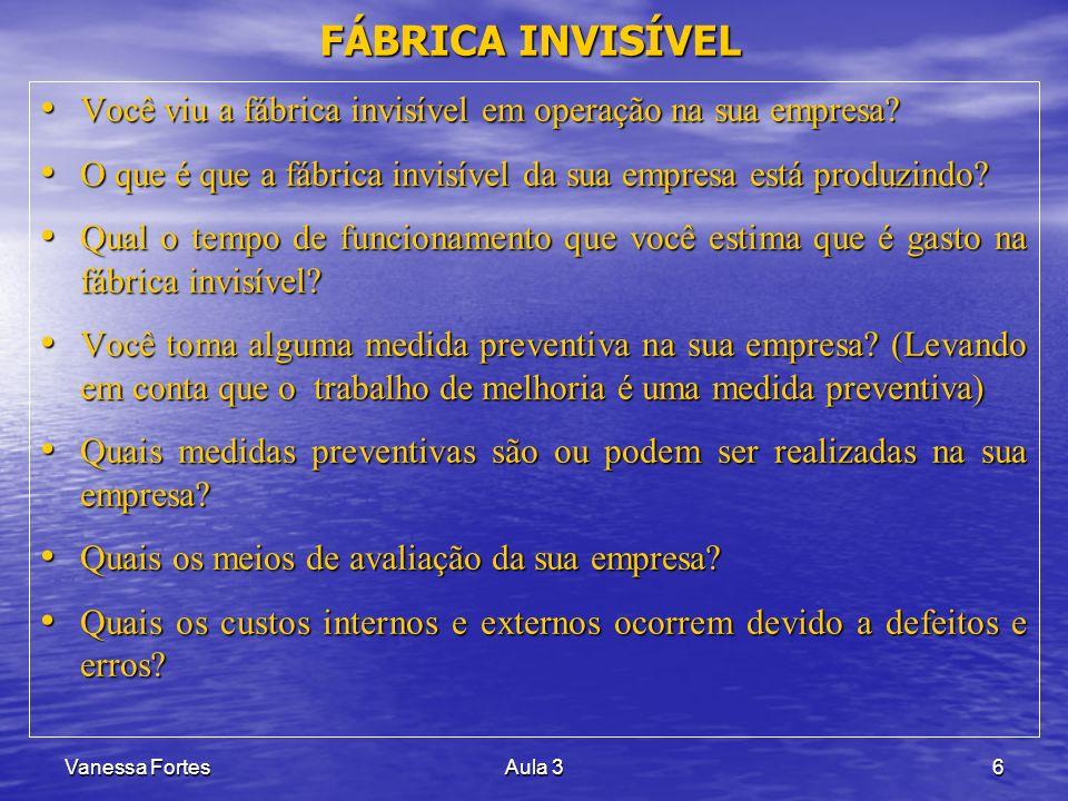 FÁBRICA INVISÍVEL Você viu a fábrica invisível em operação na sua empresa O que é que a fábrica invisível da sua empresa está produzindo