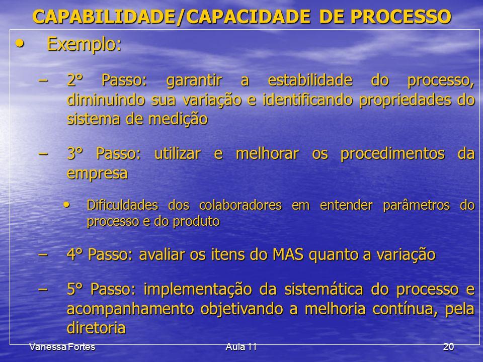 CAPABILIDADE/CAPACIDADE DE PROCESSO