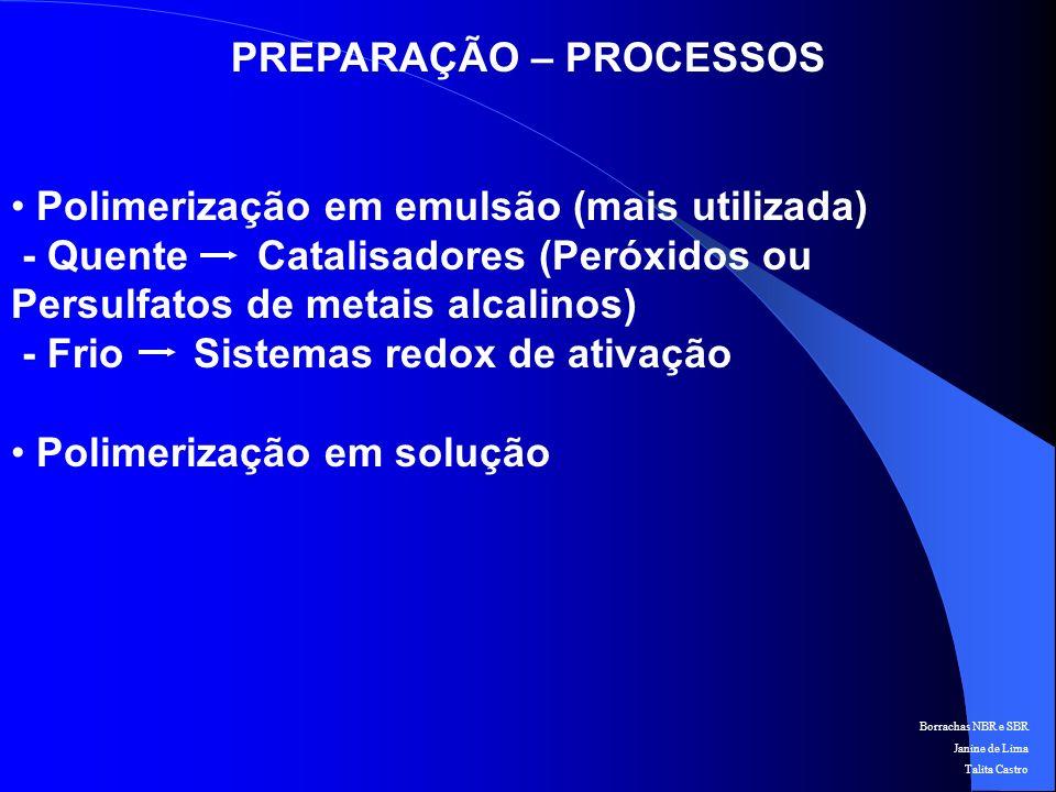 PREPARAÇÃO – PROCESSOS