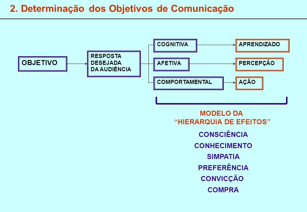 2. Determinação dos Objetivos de Comunicação