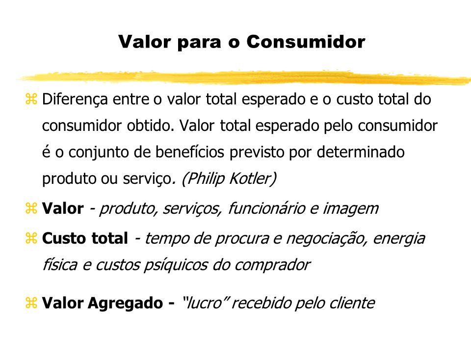 Valor para o Consumidor