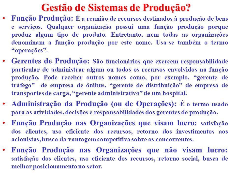 Gestão de Sistemas de Produção