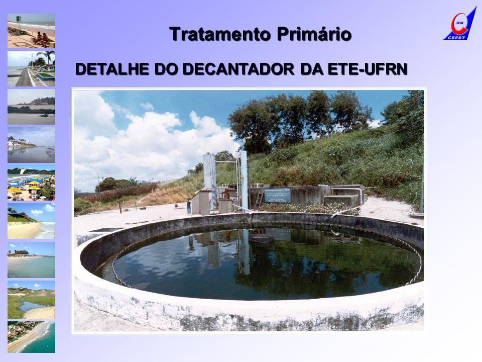 DETALHE DO DECANTADOR DA ETE-UFRN