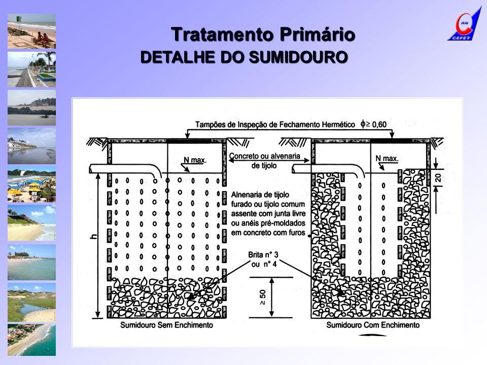 Tratamento Primário DETALHE DO SUMIDOURO