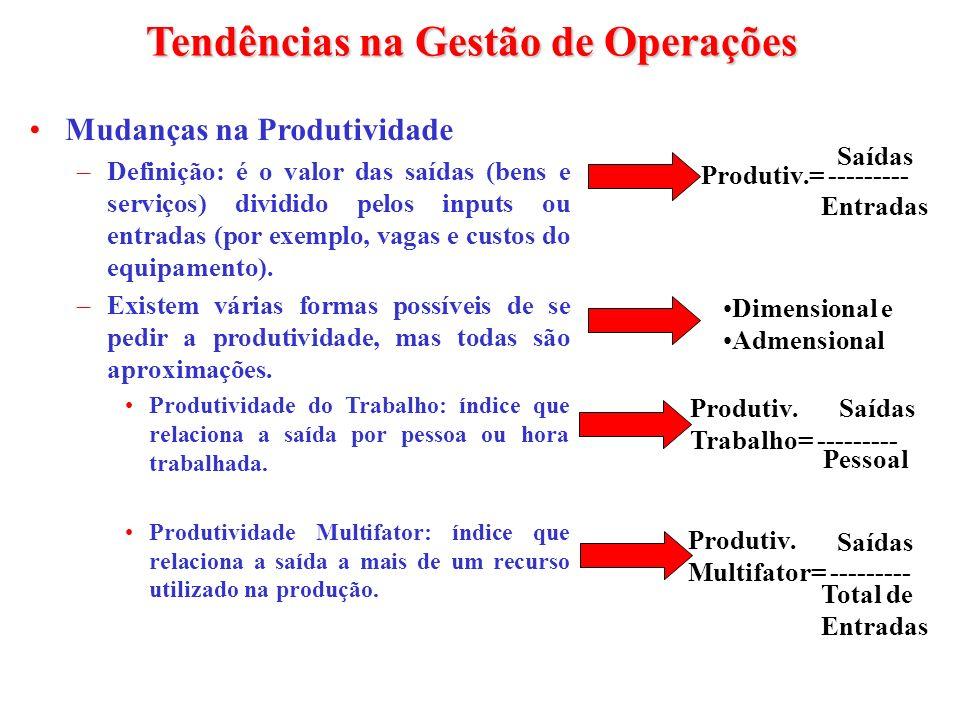 Tendências na Gestão de Operações