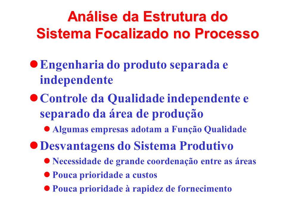 Análise da Estrutura do Sistema Focalizado no Processo