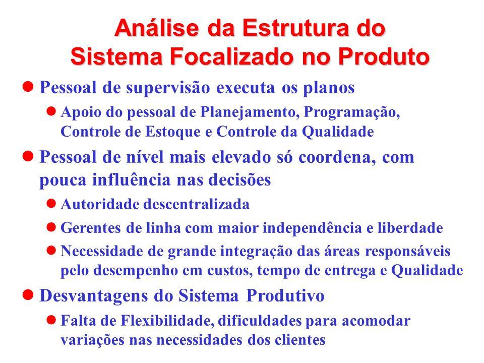Análise da Estrutura do Sistema Focalizado no Produto