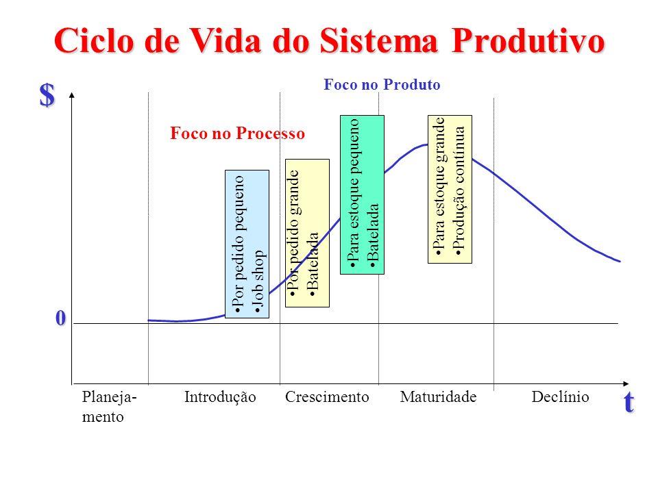 Ciclo de Vida do Sistema Produtivo