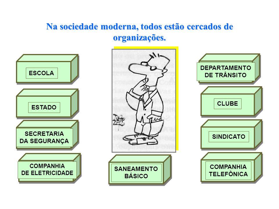 Na sociedade moderna, todos estão cercados de organizações.