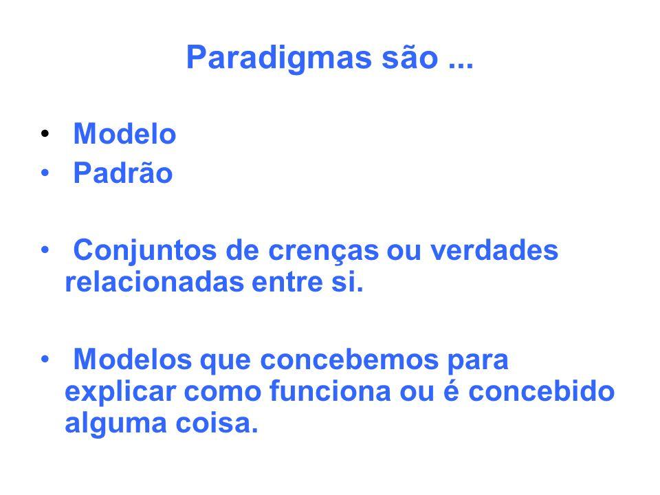 Paradigmas são ... Modelo Padrão