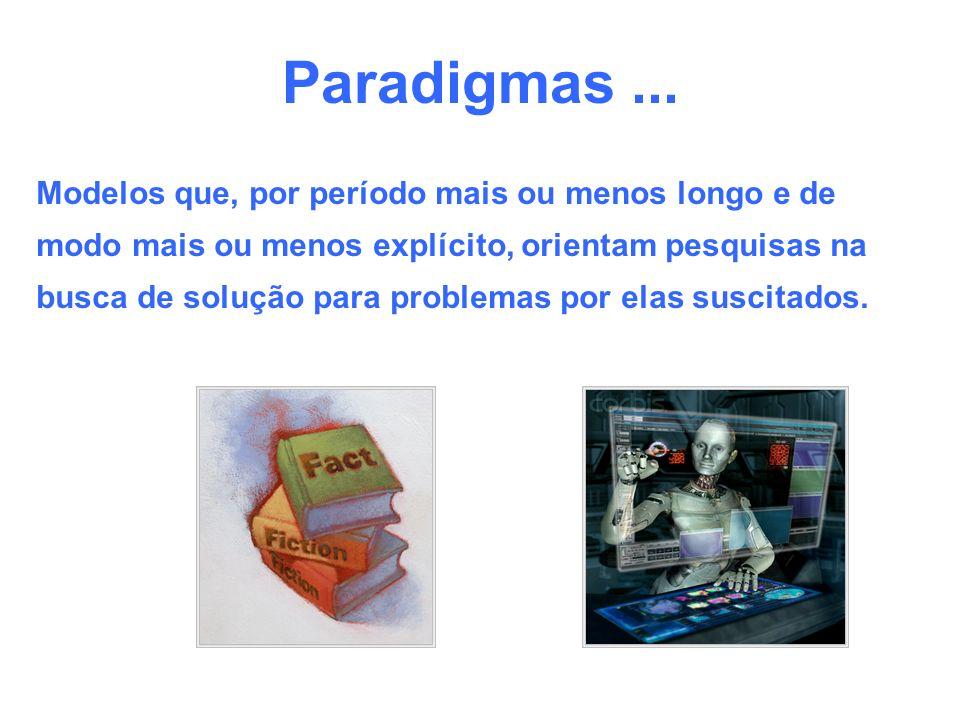 Paradigmas ... Modelos que, por período mais ou menos longo e de