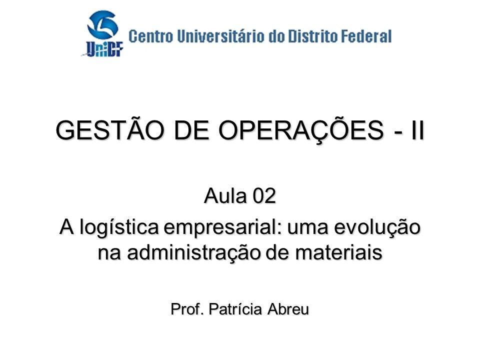 GESTÃO DE OPERAÇÕES - II