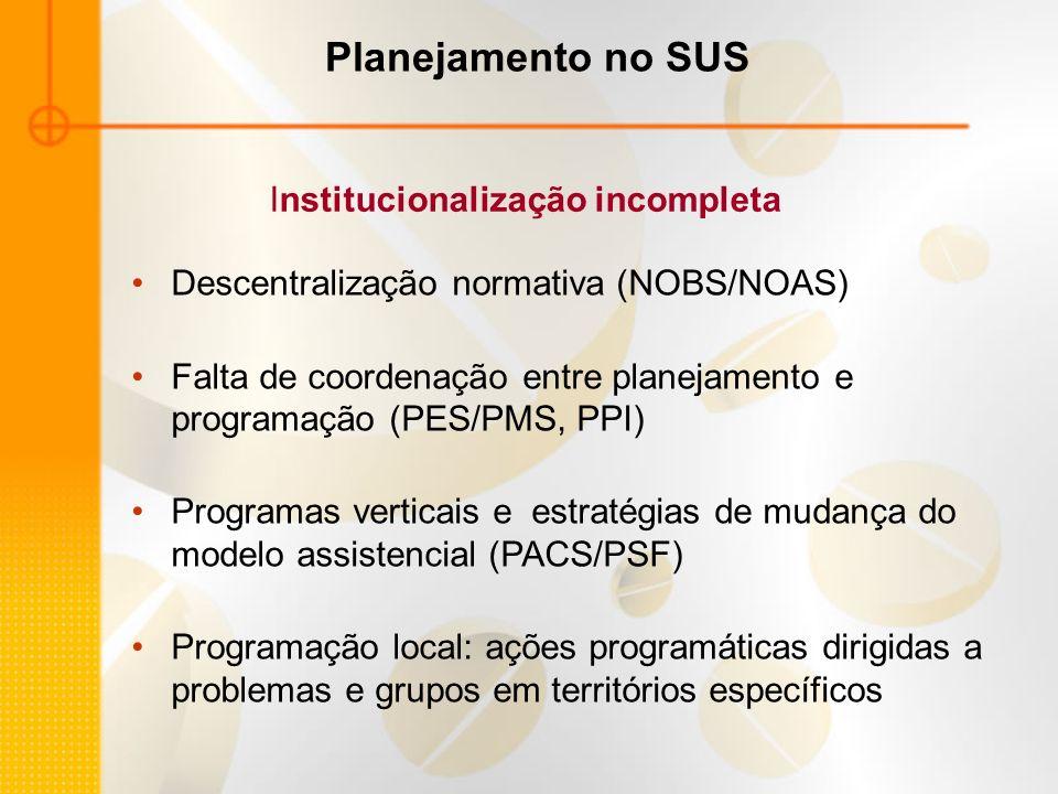 Institucionalização incompleta