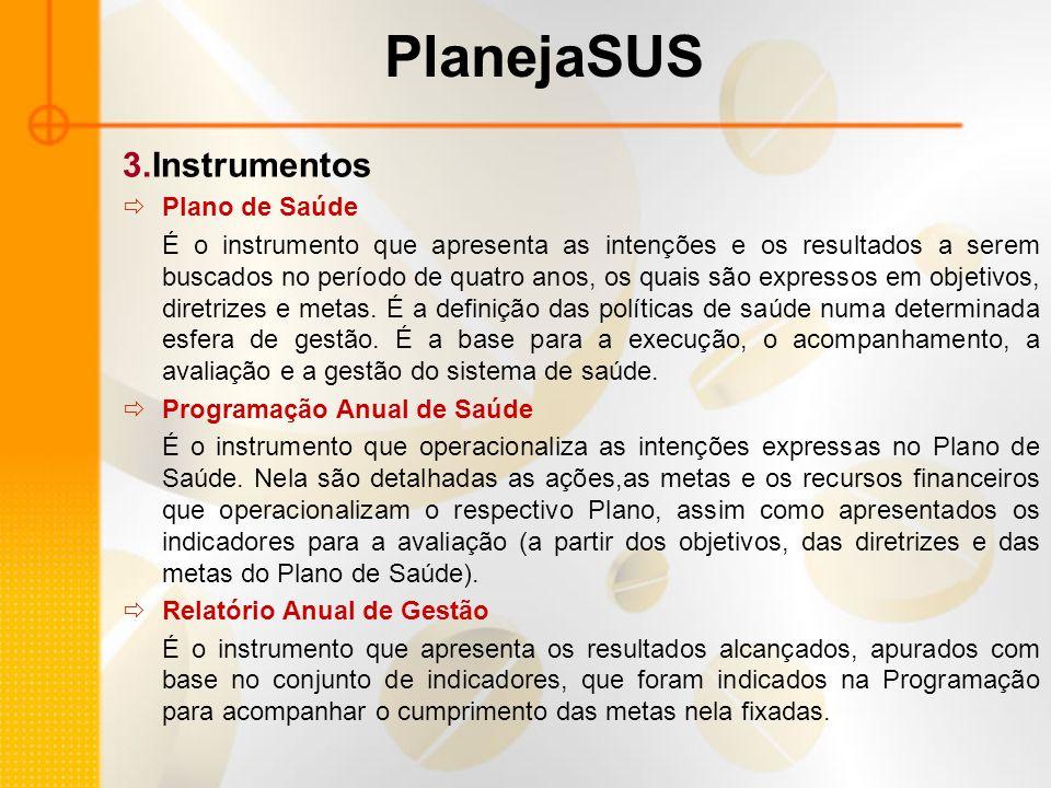 PlanejaSUS 3.Instrumentos Plano de Saúde