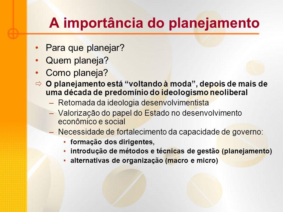 A importância do planejamento