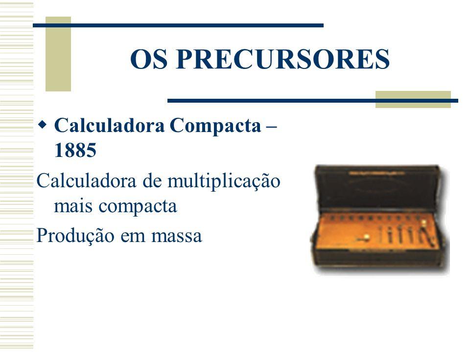 OS PRECURSORES Calculadora Compacta – 1885