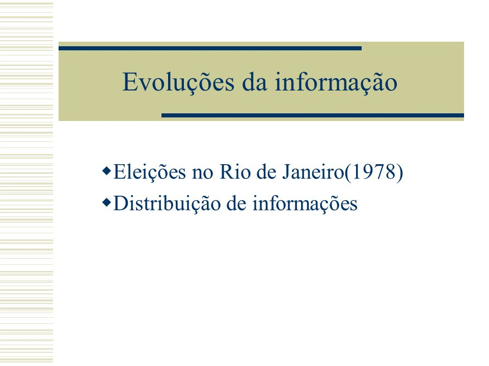 Evoluções da informação