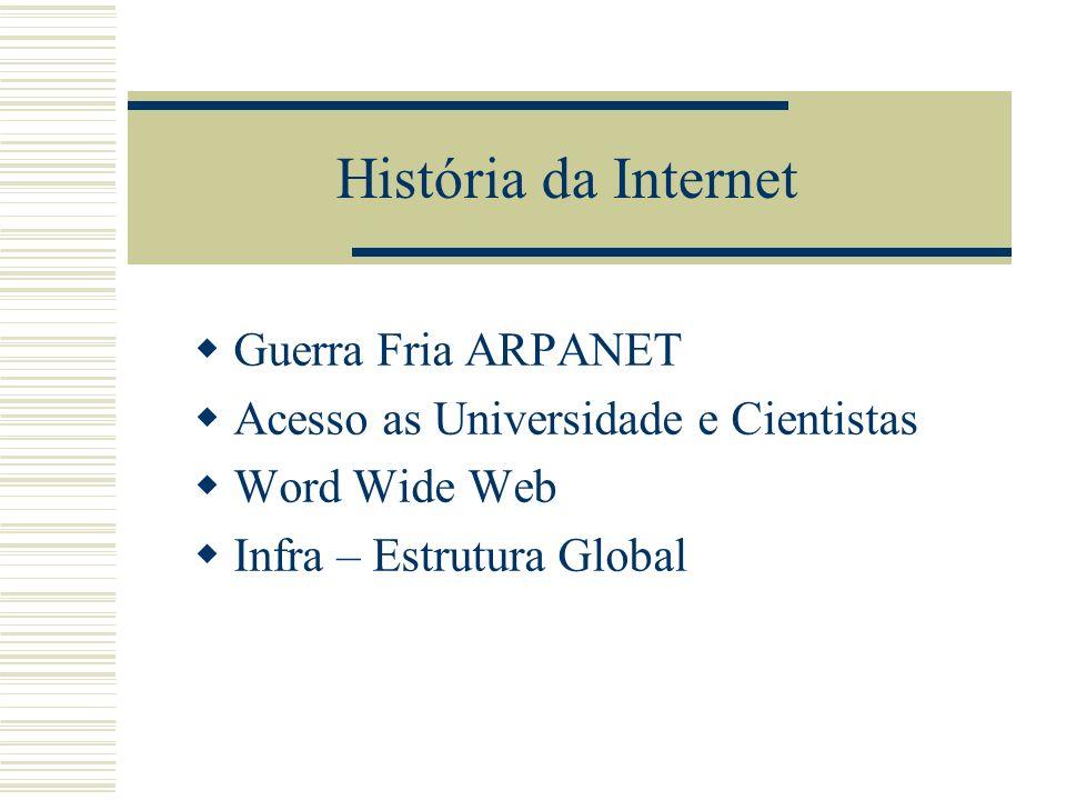 História da Internet Guerra Fria ARPANET
