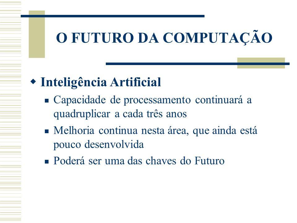 O FUTURO DA COMPUTAÇÃO Inteligência Artificial