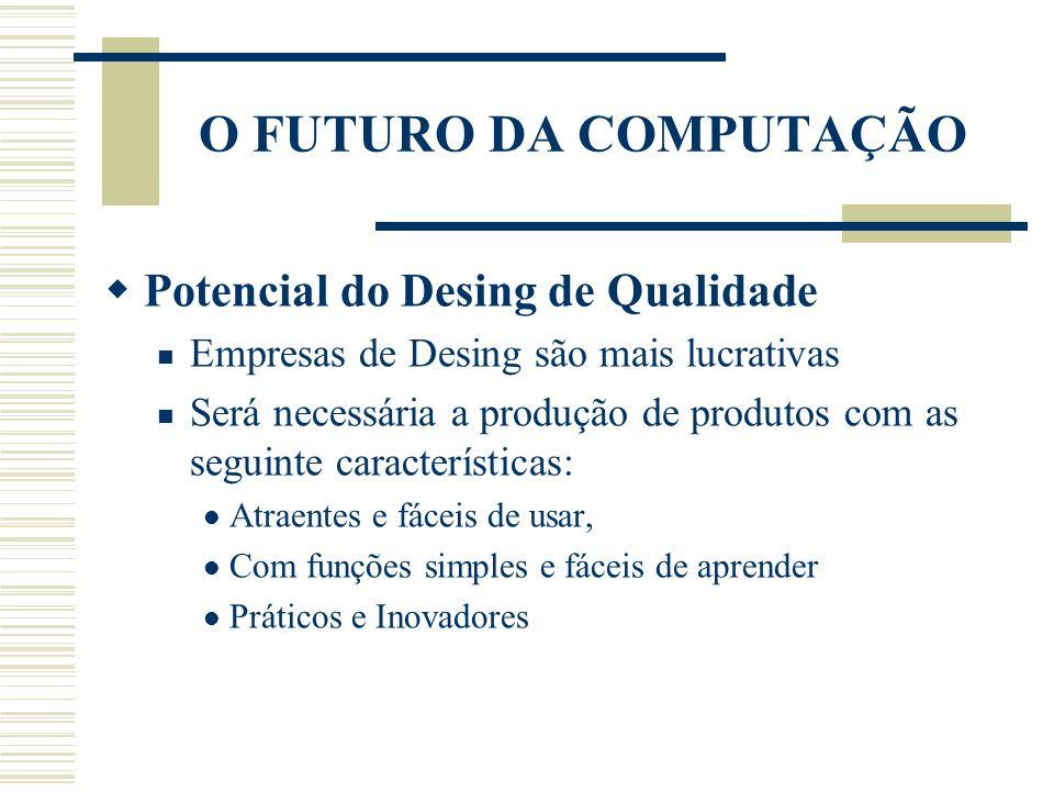 O FUTURO DA COMPUTAÇÃO Potencial do Desing de Qualidade